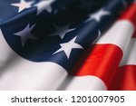 american flag close up   Shutterstock . vector #1201007905