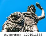 famous statue of bavaria at the ...   Shutterstock . vector #1201011595