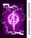 cartoon violet magic spell... | Shutterstock .eps vector #1201014478