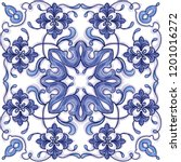 azulejos portuguese watercolor...   Shutterstock .eps vector #1201016272