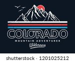 mountain illustration  outdoor... | Shutterstock .eps vector #1201025212