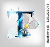 abstract modern design letter t ...   Shutterstock .eps vector #1201028095