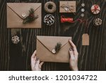 christmas handmade cards and... | Shutterstock . vector #1201034722