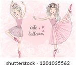 two hand drawn beautiful ...   Shutterstock .eps vector #1201035562