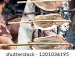 crab market in kep  cambodia.... | Shutterstock . vector #1201036195