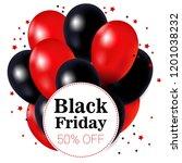 black friday  balloons black... | Shutterstock .eps vector #1201038232