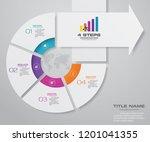 4 steps of arrow infografics...   Shutterstock .eps vector #1201041355