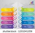 10 steps of arrow infografics... | Shutterstock .eps vector #1201041358