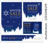 set of winter design for... | Shutterstock .eps vector #1201048195