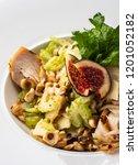 grilled chicken breast salad... | Shutterstock . vector #1201052182