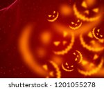 happy halloween background | Shutterstock . vector #1201055278