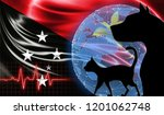 black cat and dog on the...   Shutterstock . vector #1201062748