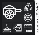 set of 6 vehicle outline icons...   Shutterstock .eps vector #1201064428