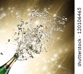 close up of champagne explosion | Shutterstock . vector #120106465