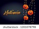 halloween template banner. ...   Shutterstock .eps vector #1201078798