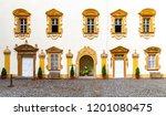 courtyard of lemberk castle in... | Shutterstock . vector #1201080475