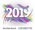2019 new year on the background ... | Shutterstock .eps vector #1201081732