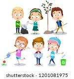 early ecology children... | Shutterstock .eps vector #1201081975