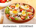 ensalada campera traditional... | Shutterstock . vector #1201085665
