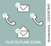 vector flat icons. outline...