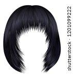 trendy hairs brunette black... | Shutterstock .eps vector #1201099222