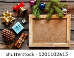 new year set with branch of... | Shutterstock . vector #1201102615