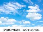 sky blue or azure sky and cloud ... | Shutterstock . vector #1201103938