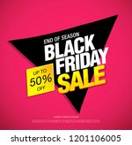 black friday sale banner layout ... | Shutterstock .eps vector #1201106005