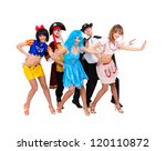 dancers in carnival costumes... | Shutterstock . vector #120110872