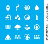 water icons set isolated on... | Shutterstock .eps vector #1201113868