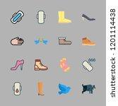 leg icon set. vector set about... | Shutterstock .eps vector #1201114438