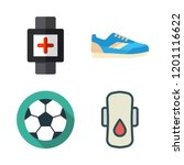 exercise icon set. vector set... | Shutterstock .eps vector #1201116622