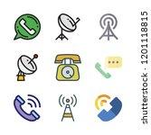 receiver icon set. vector set... | Shutterstock .eps vector #1201118815