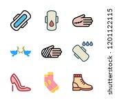 leg icon set. vector set about... | Shutterstock .eps vector #1201122115