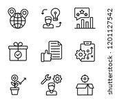 business management line vector ...   Shutterstock .eps vector #1201127542