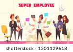super employee composition with ... | Shutterstock .eps vector #1201129618
