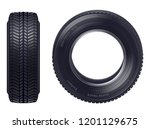 set of realistic new car tires... | Shutterstock .eps vector #1201129675