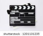 movie clapper board on white ...   Shutterstock . vector #1201131235