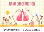 nano construction flat vector... | Shutterstock .eps vector #1201133818