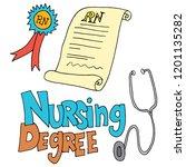 an image of a nursing degree... | Shutterstock .eps vector #1201135282