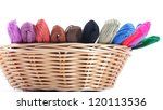 yarns of different colors for... | Shutterstock . vector #120113536