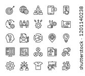 growth line vector icons  | Shutterstock .eps vector #1201140238