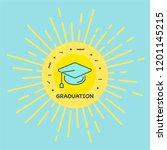 graduation icon with background   Shutterstock .eps vector #1201145215