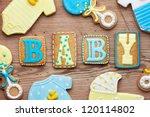 baby shower cookies | Shutterstock . vector #120114802