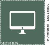 monitor icon vector...