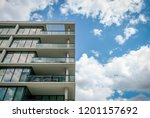 abstract modern architectural... | Shutterstock . vector #1201157692