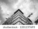 abstract modern architectural... | Shutterstock . vector #1201157695