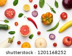 eating pattern with raw organic ... | Shutterstock . vector #1201168252