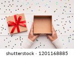 christmas presents delivery... | Shutterstock . vector #1201168885