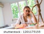 every beginning is hard. art... | Shutterstock . vector #1201175155